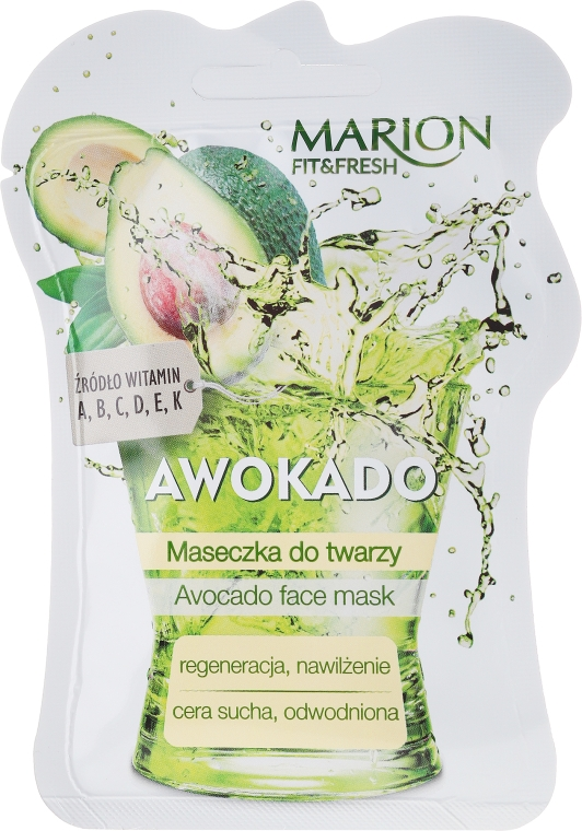 "Arcmaszk ""Avokádó"" - Marion Fit & Fresh Avocado Face Mask"