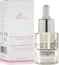 Parfüm, Parfüméria, kozmetikum Regeneráló szemkörnyékápoló szérum - Sayaz Cosmetics Premium Bulgarian Rose & Silk Extract Eye Serum 24H