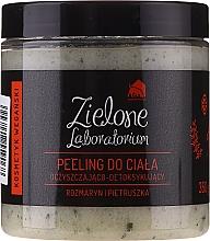 """Parfüm, Parfüméria, kozmetikum Tisztító méregtelenítő testradír """"Rozmaring és petrezselyem"""" - Zielone Laboratorium"""