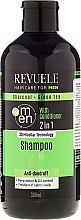 Parfüm, Parfüméria, kozmetikum Sampon és kondicionáló férfiaknak - Revuele Men Charcoal + Green Tea 2in1 Shampoo