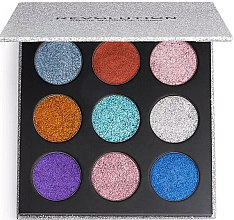 Parfüm, Parfüméria, kozmetikum Smink paletta - Makeup Revolution Pressed Glitter Palette Illusion