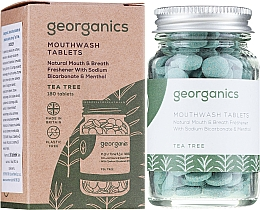 "Parfüm, Parfüméria, kozmetikum Fogtisztító tabletta ""Teafa"" - Georganics Natural Mouthwash Tablets Tea Tree"