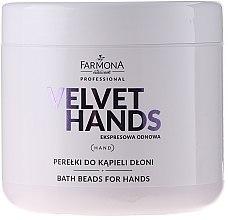Parfüm, Parfüméria, kozmetikum Kézfürdető gyöngyök liliom és orgona illattal - Farmona Professional Velvet Hands Bath Beads For Hands