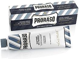 Parfüm, Parfüméria, kozmetikum Borotválkozó krém aloe vera és E-vitaminnal - Proraso Blue Shaving Cream