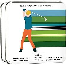 "Parfüm, Parfüméria, kozmetikum Testszappan fém dobozban ""Golf"" - Scottish Fine Soap In A Tin Golf"