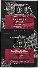 Parfüm, Parfüméria, kozmetikum Szemkörnyék ránctalanító maszk szőlővel - Apivita Express Beauty Eye Mask Grape