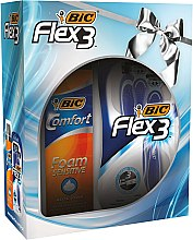 Parfüm, Parfüméria, kozmetikum Készlet - Bic Flex 3 Comfort (razor/4db. + foam/200ml)