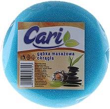 Parfüm, Parfüméria, kozmetikum Fürdőszivacs, gömbölyű, fehér-világoskék - Cari