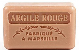 "Parfüm, Parfüméria, kozmetikum Marseillaise szappan ""Vörös agyag"" - Foufour Savonnette Marseillaise Argile Rouge"