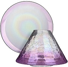 Parfüm, Parfüméria, kozmetikum Lámpaernyő és tartó nagy gyertyához - Yankee Candle Savoy Purple Crackle Large Shade & Tray Set