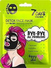 Parfüm, Parfüméria, kozmetikum Arcmaszk - 7 Days Total Black Bye bye All Problems Detox Face Mask