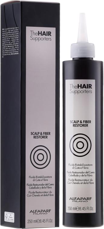 Kettős hatású fixáló-fluid - AlfaParf The Hair Supporters Scalp & Fiber Restorer — fotó N1