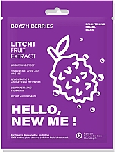Parfüm, Parfüméria, kozmetikum Arcmaszk - Boys`n Berries Hello, New Me! Litchi Mask