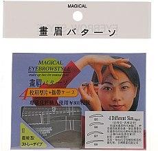 Parfüm, Parfüméria, kozmetikum Szemöldökformázó sablon, méret B5, B6, B7, B8 - Magical Eyebrow Style