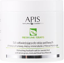 Parfüm, Parfüméria, kozmetikum Frissítő sós lábfürdő - APIS Professional Fresh Lime Terapis Refreshing Footbath Salt