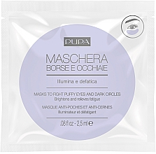 Parfüm, Parfüméria, kozmetikum Maszk szem alatti karikák és duzzanatok ellen - Pupa Mask To Fight Puffy Eyes And Dark Circles