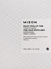Parfüm, Parfüméria, kozmetikum Arcbőr élénkítő szövetmaszk citrom kivonattal - Mizon Enjoy Vital-Up Time Tone Up Mask