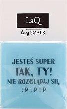 """Parfüm, Parfüméria, kozmetikum Kézzel készült természetes szappan """"A férfiaknak is vannak érzései"""" - LaQ Happy Soaps Short Message Soap"""