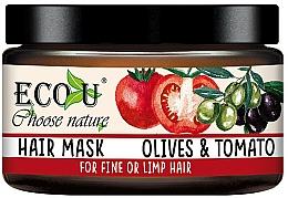 """Parfüm, Parfüméria, kozmetikum Maszk vékonyszálú hajra """"Paradicsom és olívabogyó"""" - Eco U Mask For Fine Hair"""