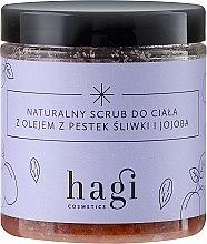 Parfüm, Parfüméria, kozmetikum Természetes testradír szilva és jojoba olajjal - Hagi Scrub
