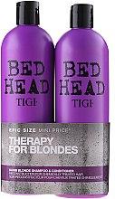 Parfüm, Parfüméria, kozmetikum Készlet - Tigi Bed Head Dumb Blonde (shm/750ml + cond/750ml)