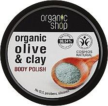 "Parfüm, Parfüméria, kozmetikum Testradír ""Kék agyag"" - Organic Shop Body Scrub Organic Olive & Clay"