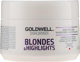 Parfüm, Parfüméria, kozmetikum Maszk festett és melírozott hajra - Goldwell Dualsenses Blondes & Highlights 60sec Treatment