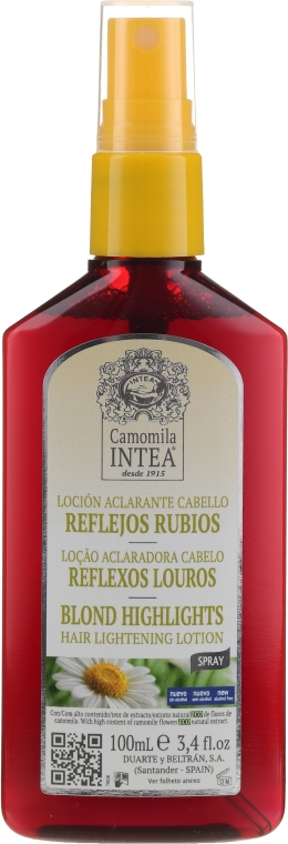 Hajvilágosító spray kamilla kivonattal - Intea Blonde Highlights Hair Lightening Spray With Camomile Extract