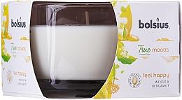 """Parfüm, Parfüméria, kozmetikum Illatosított gyertya pohárban """"Mango és bergamot"""", 63/90 mm - Bolsius True Moods Candle"""