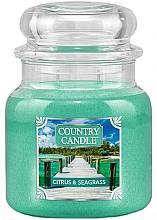 Parfüm, Parfüméria, kozmetikum Illatgyertya üvegben - Country Candle Citrus & Seagrass