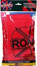 Parfüm, Parfüméria, kozmetikum Fodrász köppeny, univerzális méret, piros - Ronney Professional Hairdressing Cape One Size