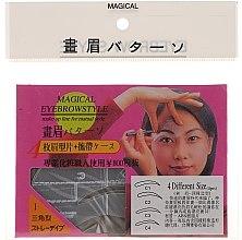 Parfüm, Parfüméria, kozmetikum Szemöldökformázó sablon, méret C1, C2, C3, C4 - Magical Eyebrow Style