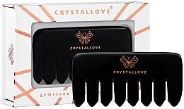 Parfüm, Parfüméria, kozmetikum Obszidián fejbőr-masszázs fésű - Crystallove