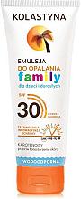 Parfüm, Parfüméria, kozmetikum Napvédő emulzió - Kolastyna Family Suncare Emulsion SPF 30