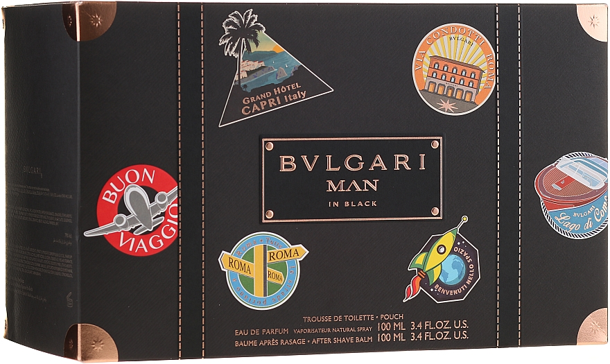 Bvlgari Man In Black - Szett (edp/100ml + ash/balm/100ml + bag)