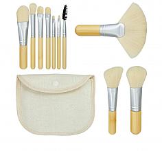 """Parfüm, Parfüméria, kozmetikum Sminkecset készlet """"Bamboo White"""" 10 db + táska - Tools For Beauty"""