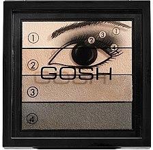 Szemhéjfesték 4-színű - Gosh Quattro Smokey Eyes Palette — fotó N1