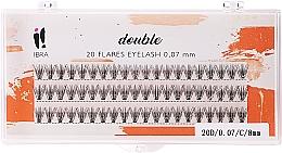 Parfüm, Parfüméria, kozmetikum Műszempilla szálas, C 8 mm - Ibra 20 Flares Eyelash Knot Free Naturals