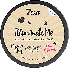 Parfüm, Parfüméria, kozmetikum Puhító cukor alapú testradír - 7 Days Illuminate Me Miss Crazy Soothing Sugar Body Scrub