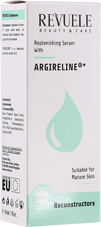 Regeneráló arcszérum - Revuele Replenishing Serum With Argireline