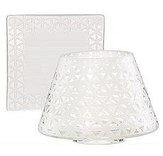 Parfüm, Parfüméria, kozmetikum Kellék szett - Yankee Candle Belmont Sandblasted on Glass Small Shade & Tray