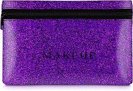 """Parfüm, Parfüméria, kozmetikum Szilikon neszeszer, lila """"Glitter Pouch"""", 18x11cm - MakeUp"""