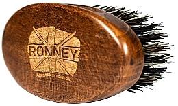 Parfüm, Parfüméria, kozmetikum Fa szakállkefe természetes sörtékkel, sötét - Ronney Professional Barber Small Brush