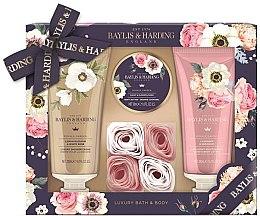 Parfüm, Parfüméria, kozmetikum Készlet - Baylis & Harding Royale Garden (sh/cr/200ml + b/lot/200ml + b/butter/50ml + soap/6g)