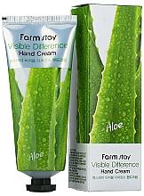 Parfüm, Parfüméria, kozmetikum Kézkrém aloe verával - Farmstay Visible Differerce Hand Cream Aloe