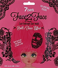 """Parfüm, Parfüméria, kozmetikum """"Csipkés"""" hidrogél arcmaszk kakaóbab kivonattal - 7 Days Face2Face Lace Hydrogel Mask Cocoa Beans"""