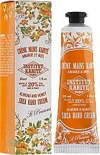 "Parfüm, Parfüméria, kozmetikum Kézkrém ""Mandula és méz"" - Institut Karite Almond And Honey Hand Cream"
