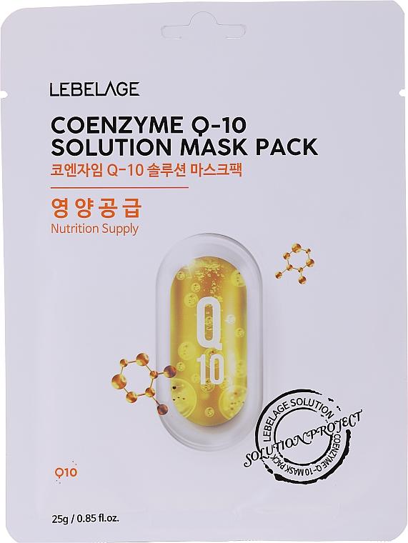 Szövetmaszk arcra - Lebelage Coenzyme Q-10 Solution Mask