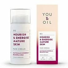 "Parfüm, Parfüméria, kozmetikum Arckrém ""Táplálás és energia"" - You & Oil Nourish & Energise Mature Skin Face Cream"