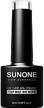 Parfüm, Parfüméria, kozmetikum Matt fedőlakk ragacsos réteg nélkül - Sunone UV/LED Gel Polish Top Mat No Wipe